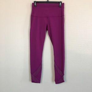 Lululemon Purple Cropped Leggings
